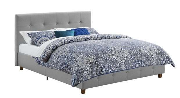 DHP Rose Linen Tufted Upholstered Platform Bed