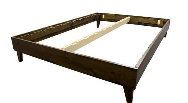 Platform Bed Frame Made in USA Pine Hardwood Walnut Finish 1
