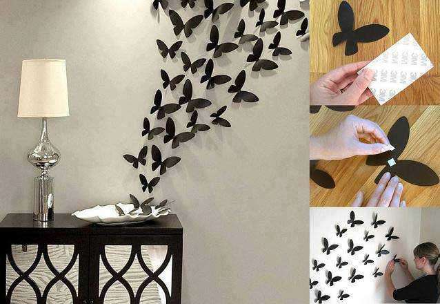 Use of butterflies as home decoration
